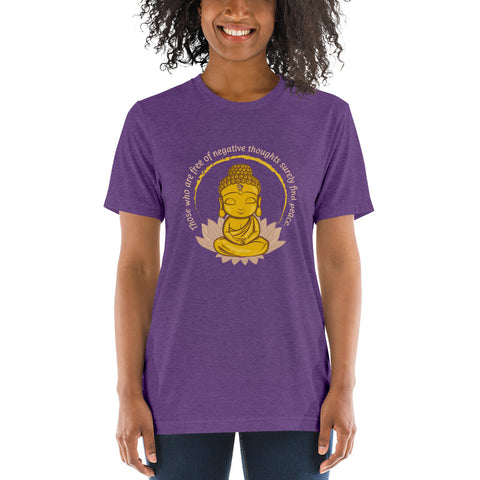 "Zen Wear ""2Be"" Unisex T-Shirt - Those Who Are Free Of Negative Thoughts Will Surely Find Peace"