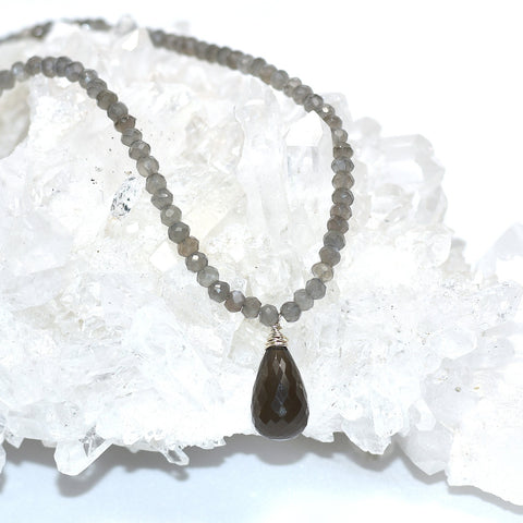 Moonstone (Grey) Necklace