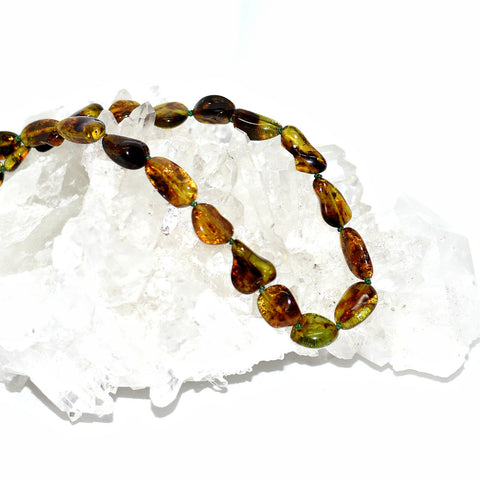 Amber (Green) Necklace
