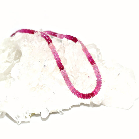 Ruby Filled Glass Necklace