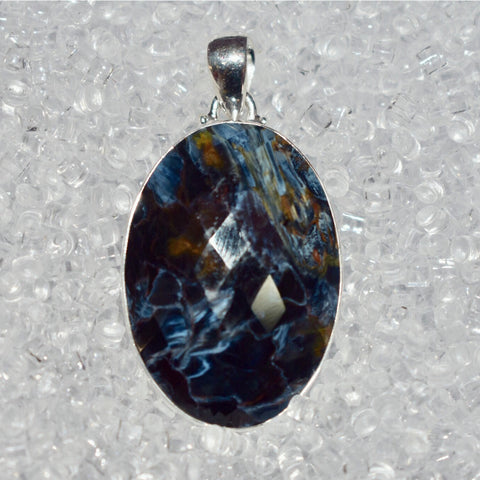 Pietersite Faceted Pendant