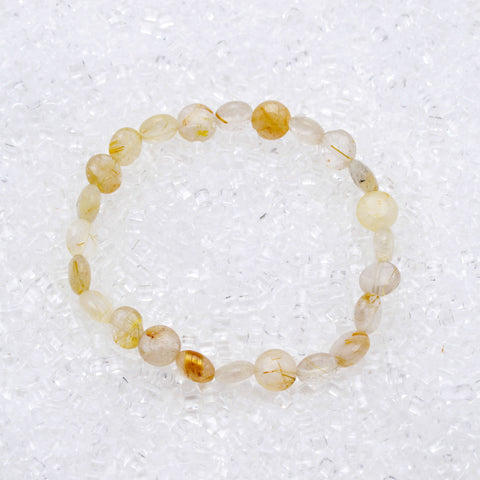 Rutilated Quartz Bracelet Coin