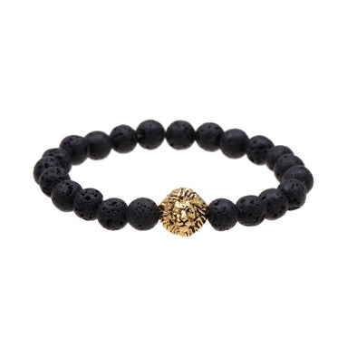 Lion Lava Rock Bracelet