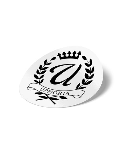 "Royalty 3"" Sticker - White"