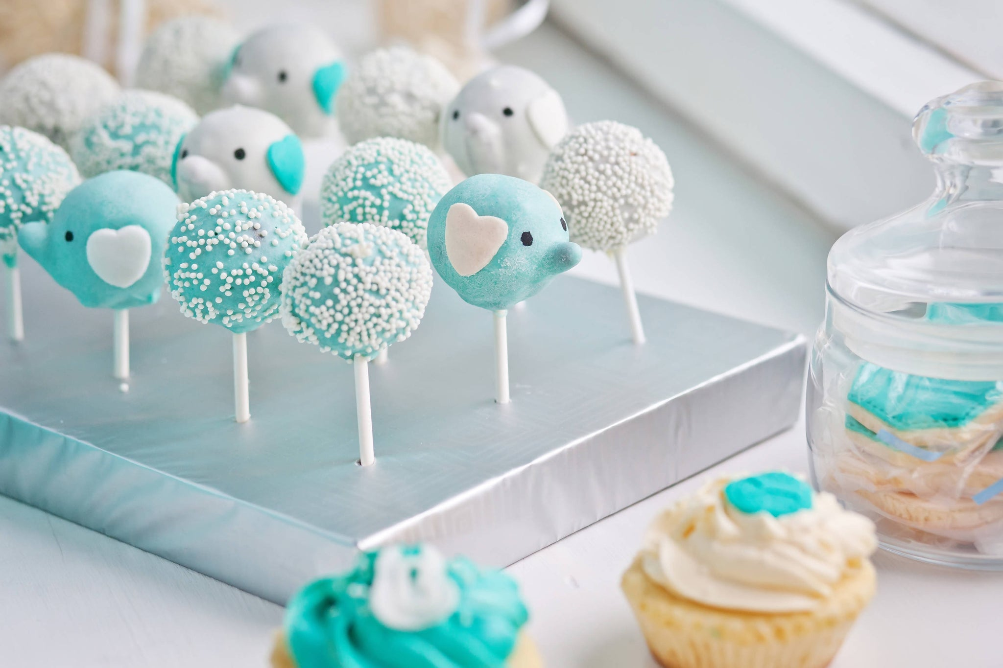 Blue Elephant Cake Pops