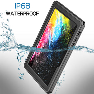 Microsoft Surface Go Waterproof Case, Temdan IPX8 Waterproof Full-Body Rugged Case with Kicstand Built-in Screen Protector for Microsoft Surface Go Tablet 10 inch 2018 Release(Black/Clear)