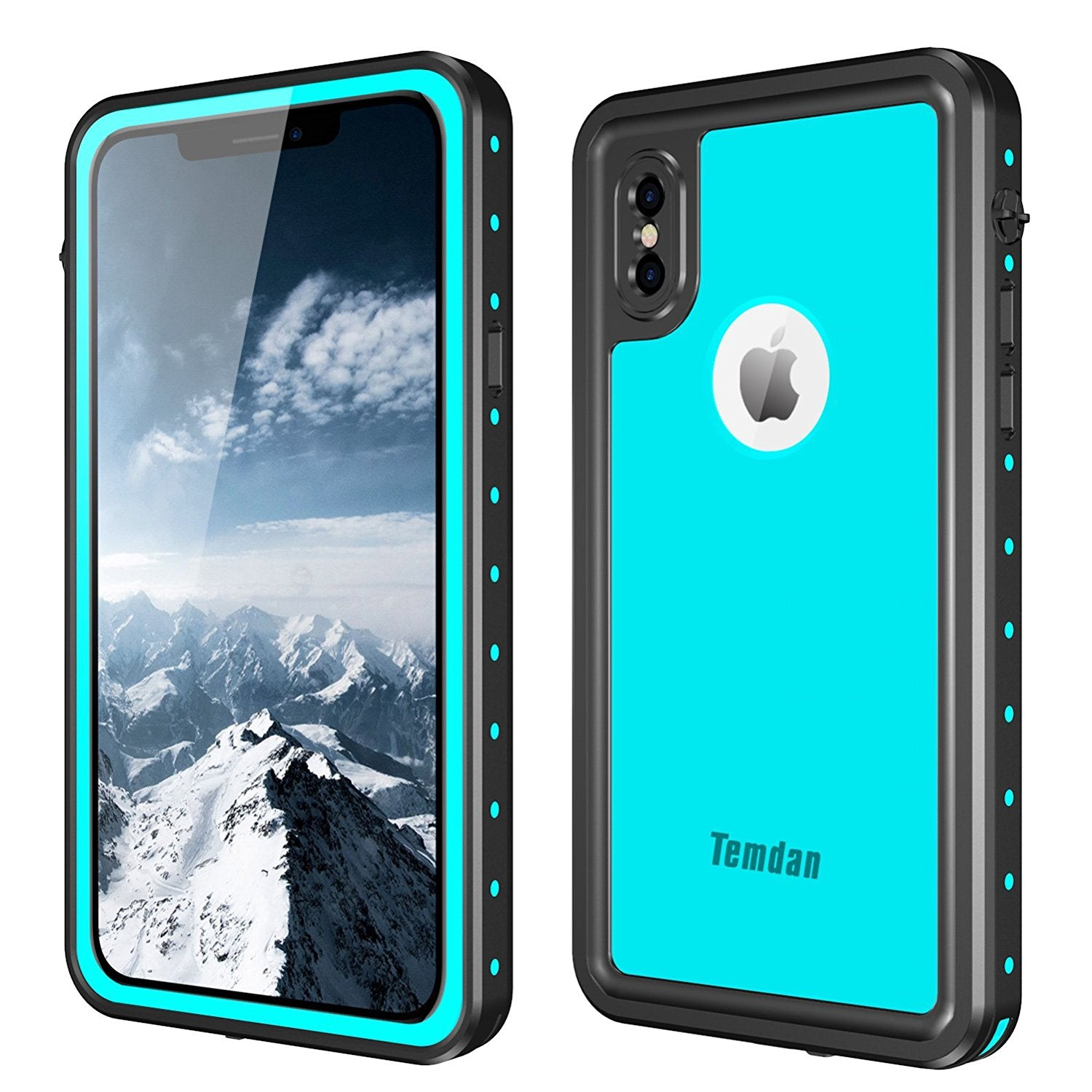 new style 45111 1fa82 iPhone X/XS Waterproof Case(blue)