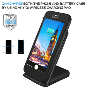iPhone 8/7 Waterproof Battery Case, QI Wireless Charging