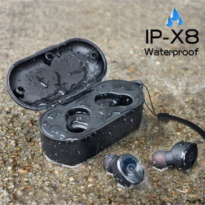 IPX8 Waterproof Bluetooth Headphones