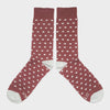 Burgundy Small Dot Socks - STAX Attire