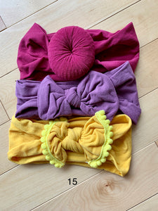 Soft Baby Nylon Headbands (3 Pack)