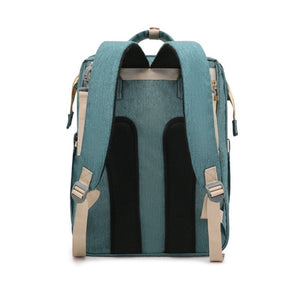 Diaper Bag Backpack with Expandable Portable Bed