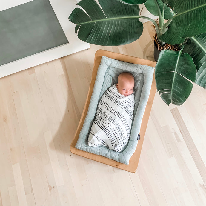 Organic Bamboo/Cotton Muslin Swaddle Blanket