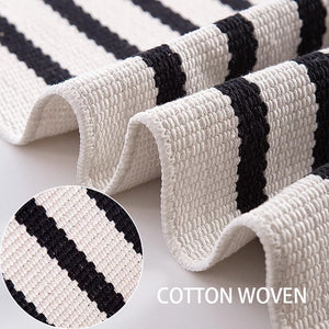 Decorative Indoor/Outdoor Layering Stripe Rug
