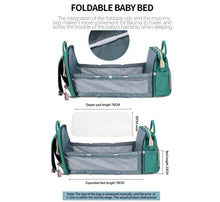 Load image into Gallery viewer, Diaper Bag Backpack with Expandable Portable Bed