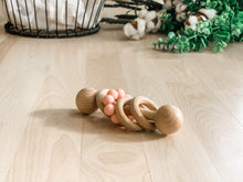 Load image into Gallery viewer, Baby/Infant Silicone Wooden Rattle Toy