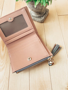 Woman's Leather Fashion Wallet with Tassel