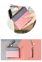 Load image into Gallery viewer, Woman's Leather Fashion Wallet with Tassel