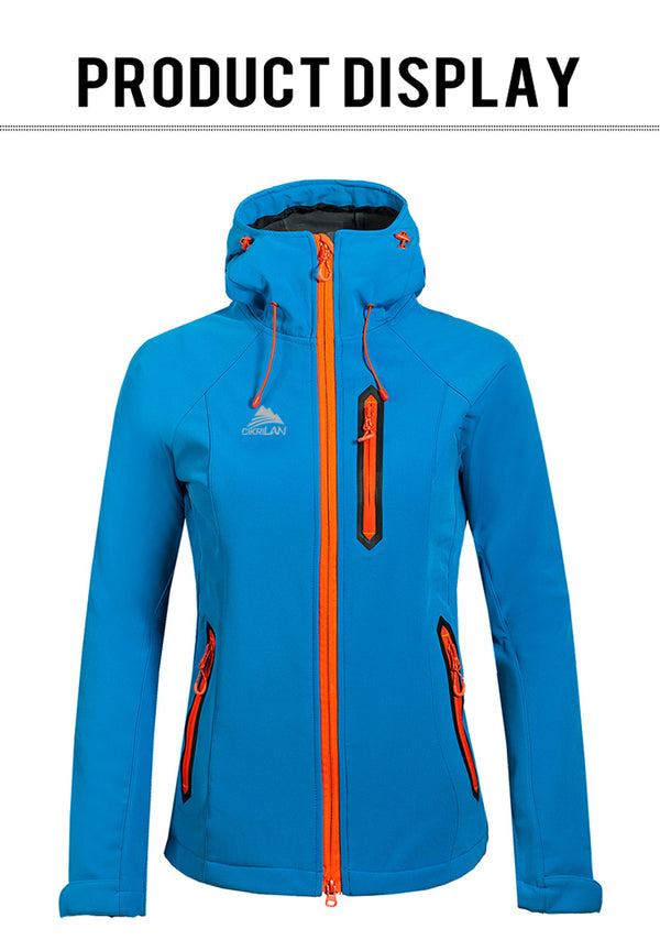 Womens Softshell Fleece Outdoor Hiking Jacket