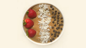 Low Sugar Chocolate Zucchini Smoothie Bowl