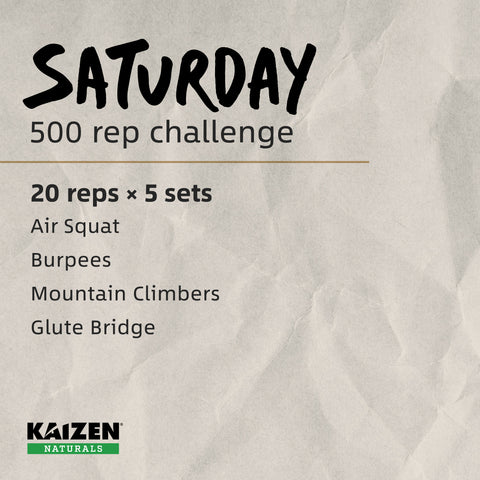 500 Rep Challenge - bodyweight workout