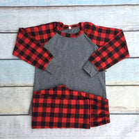 Grey and Buffalo Raglan Pjs