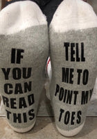 Tell me to point my toes socks