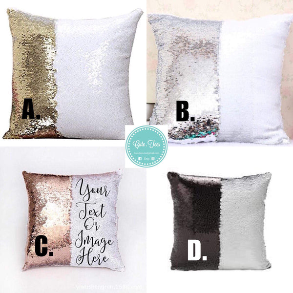 Custom made sequin pillow