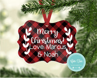 Personalised Merry Christmas Ornament