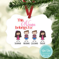 Personalised family ornament