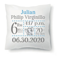 Personalised stat pillow.