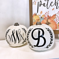 Halloween personalised pumpkins