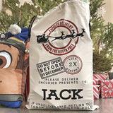 Santa and reindeer sack