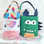 Kids unicorn and Dino tote bags