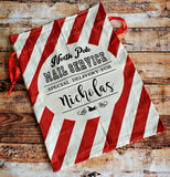 Red and White Striped Santa Sack