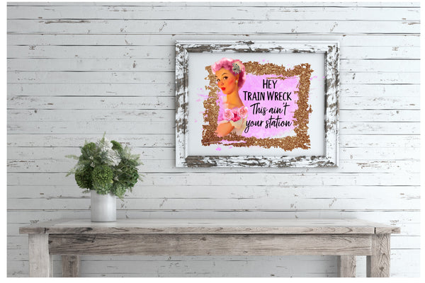 Train Wreck Canvas Board