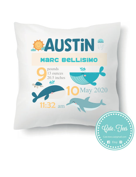 Whale Stat Pillow