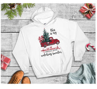 This is my Hallmark Christmas movie watching sweater