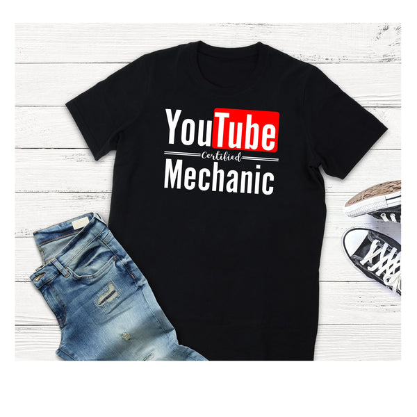 YouTube Certified Mechanic T shirt