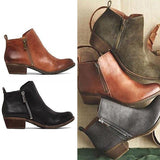 Micasahi Leather Suede Vintage Boots