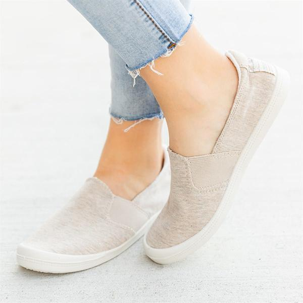Micasahi Comfy Insole Slip-On Sneakers Summer Flats