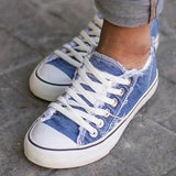 Micasahi Canvas Flat Heel Casual Sneakers