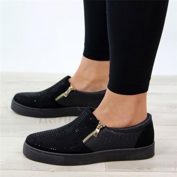 Micasahi Fashion Paillette Flat Sneakers