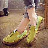 Micasahi Round Toe Comfy Pure Color Loafers Flat