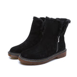 Micasahi Side Zipper Round Toe Ankle Snow Boots