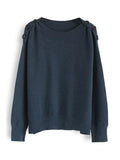 Micasahi Button or Nothing Knit Sweater