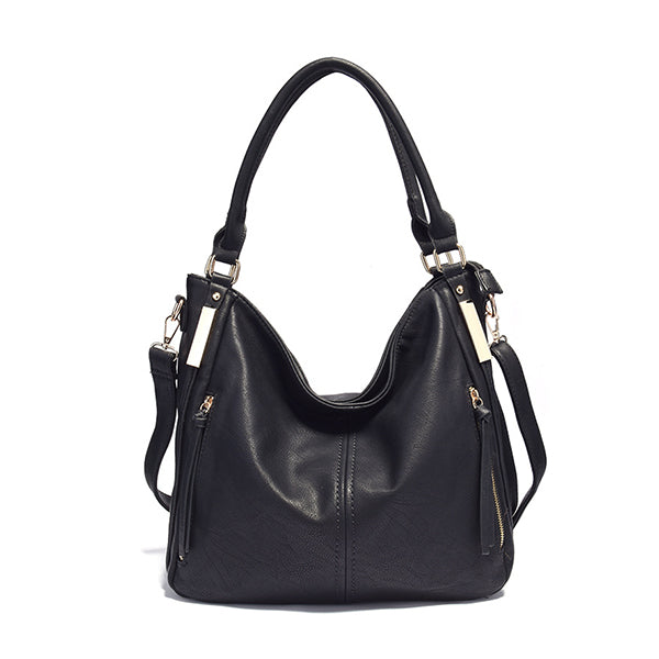 Micasahi Cool Casual Medium Leather Hobo Bag
