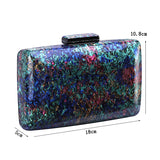 Micasahi Women Mixing Color Acrylic Banquet Handbag