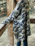 Micasahi Casual Long Sleeve Camo Retreat Cardigan