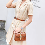 Micasahi Women Crocodile Pattern Shoulder Diagonal Package